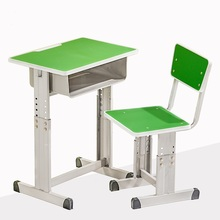 2017 New design Hot quality School Furniture single Desk and Chair for sales