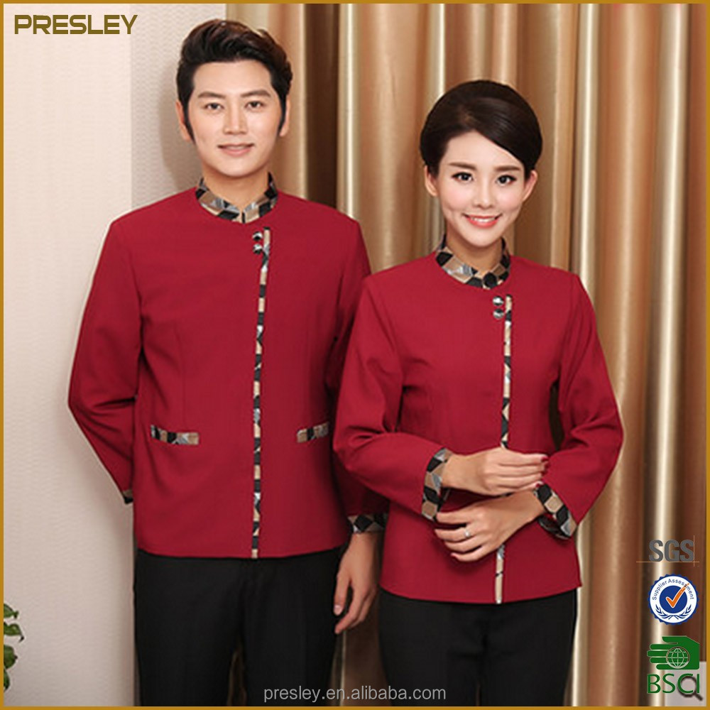 Cleaning overalls unisex hotel housekeeper long sleeves clean uniforms