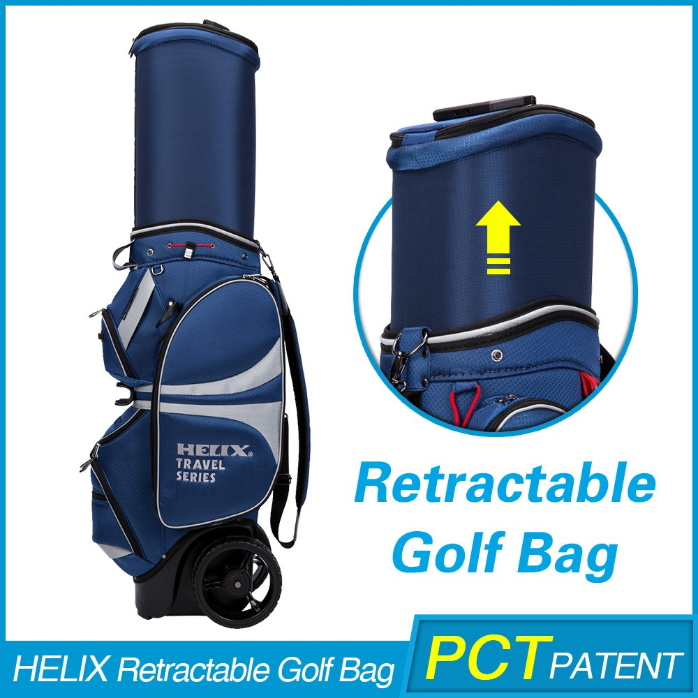 2016 Latest genuine Leather golf bag parts with custom logo