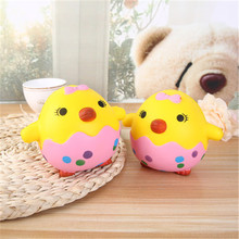 2018 hotting sale lovely soft cake/bread/fruit/emoji/animal squishy chicken egg, slow rising effect squishy toys baby