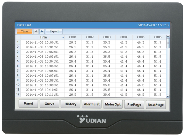 Event Data Logger With Screen : Yudian ai m channel touch screen temperature data