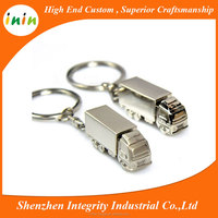Factory wholesale price 3D zinc alloy truck key chain