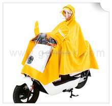 2017 motorcycle OEM color adult sleeveless clear pvc raincoat/poncho