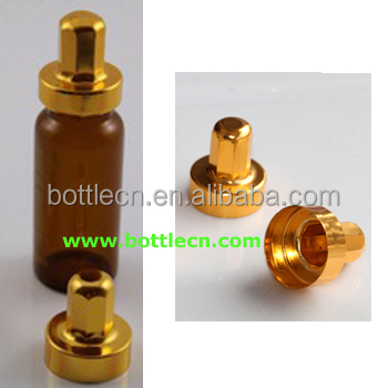 amber 10ml 20ml glass vial with gold aluminum cap