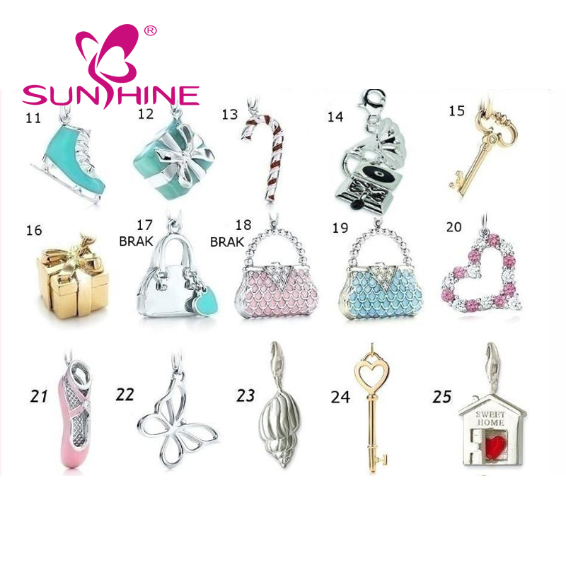 Hot selling fashion jewelry charms for jewelry making charms bracelet