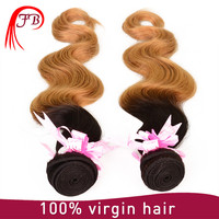Fashionable Hair Body Wave sew in human hair weave ombre hair