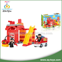 Children educational toys fire engine toy enlighten brick toy game