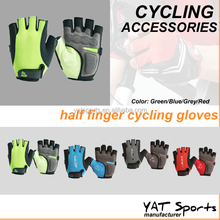 Professional quality Shockproof custom logo fingerless half finger cycling gloves