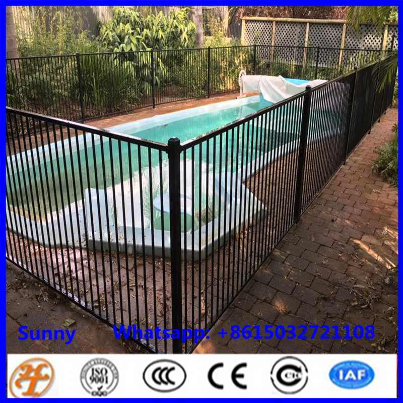 factory supply cheapest balck powder coated iron steel temporay pool fence