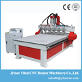 Hot sale multi Spindle with 6 heads spindles CNC Router to make slatwall panels
