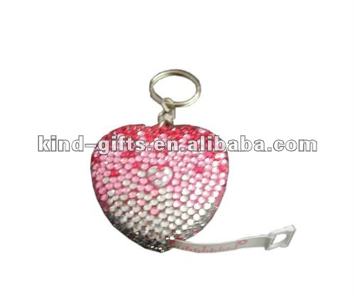 Bling bling rhinestone crystal Retractable,Compact Tape Measure