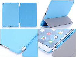 Smart leather case with chain,PC back cover +PU leather case for iPad air