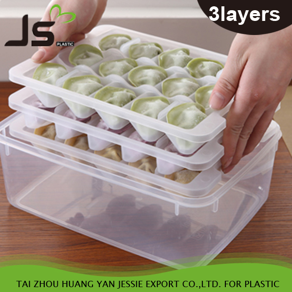 45 Cell Dumpling Crisper Box for Microwave Thawing and Fridge