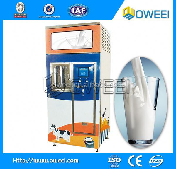 Automatic fresh coin bill payment milk atm machine
