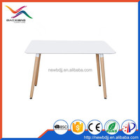 China supplier offer high quality MDF dining table with PU in black painiting and beech legs in low price