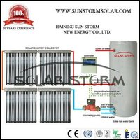 Solar Storm 500L Split Pressurized Heat Pipe Solar Water Heater With Double Copper Coil