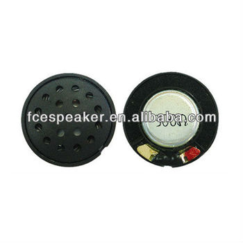 27mm 300ohm 0.02W micro miniature speaker with plastic grille