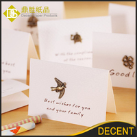 White Fancy Paper Blank Greeting Gift Cards 8.5x6.6cm