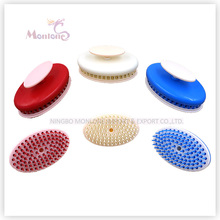 plastic stretchable manual head massager ,hair washing comb