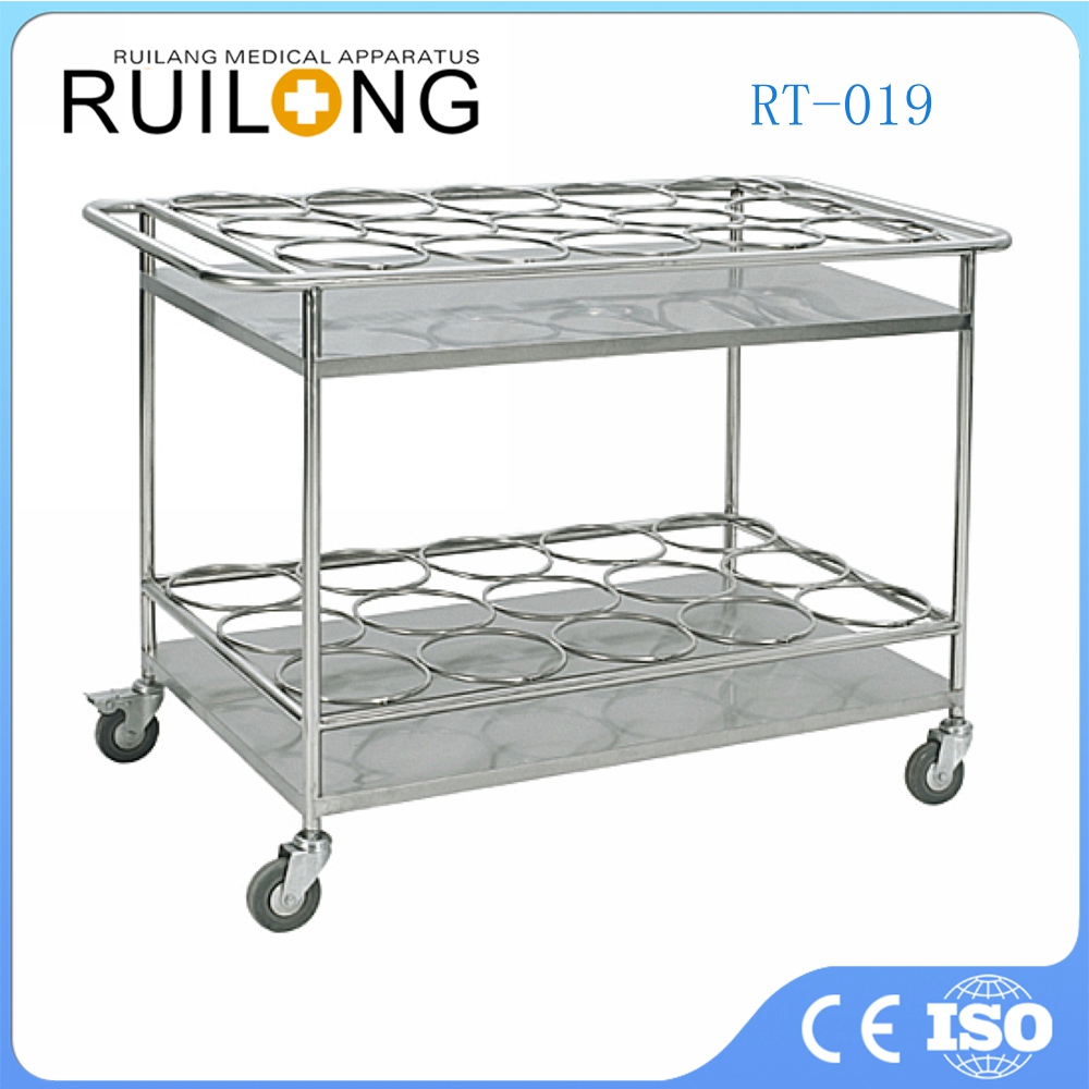 Wholesale Two Layers Metal Water Medical Bottle Trolley