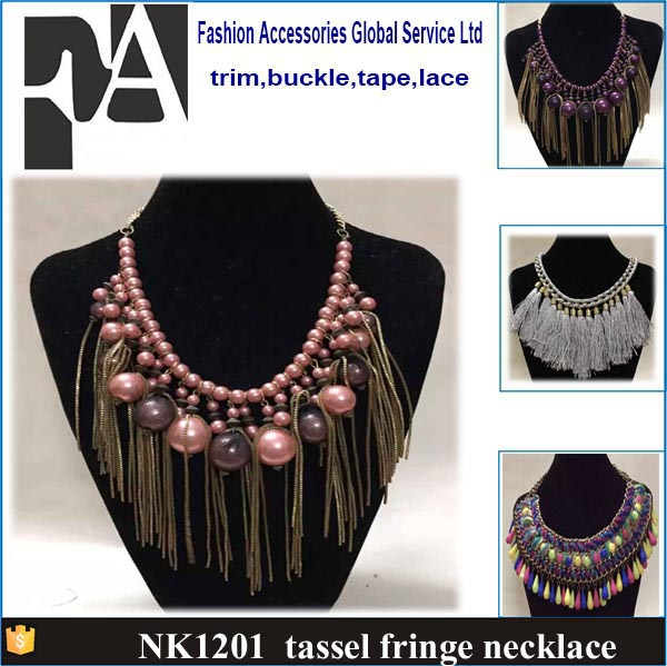 Cheap Price wholesale fashion long tassel fringe <strong>necklace</strong>