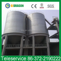 Galvanized 5000Ton Steel Silo For Poultry Feed and Farm Grain Storage