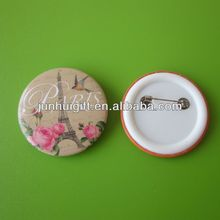 New style wonderful plastic tin button badge for giftware
