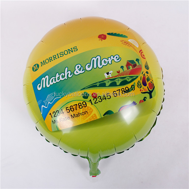 Customized logo printed foil advertising helium inflated balloons