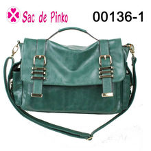 2013 green Pu material hobo satchel elle handbags