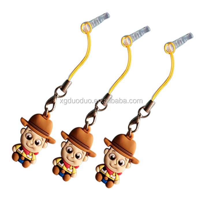 Cute Cartoon Phone Accessories Mobile Dust Plug