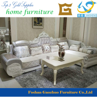 2016 Springtime New Euorpean Design High Quality Fabric Carved sofa for sale