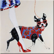 Dog Wall Art Collage Paper Decor Animal Oil Painting for Hotel.58613 dog