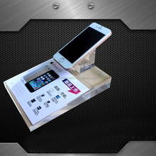 Custom unique clear plexiglass mobile phone display stand for retails