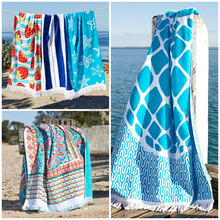 China Supplier Wholesale Clothing Luxury Quality at Unbeatable Price 100% Cotton Velour Reactive Printed Beach Towel/ Bath Towel