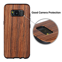 2017 Slim Matte TPU Wood Tactile Extra Grip Rubber Bumper Case Cover for Samsung Galaxy S8 S8 plus