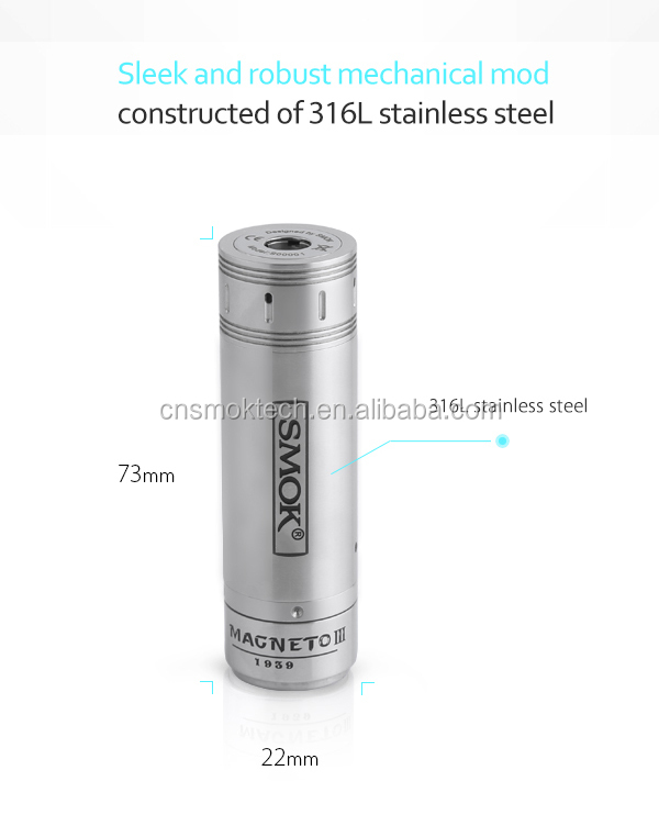 2015 on sale authentic Smok Magneto 3 mech mod high quality cheap price