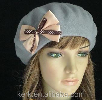 Custom fashion dress knitted hat and Wholesale bowknot Beanies knitting hats