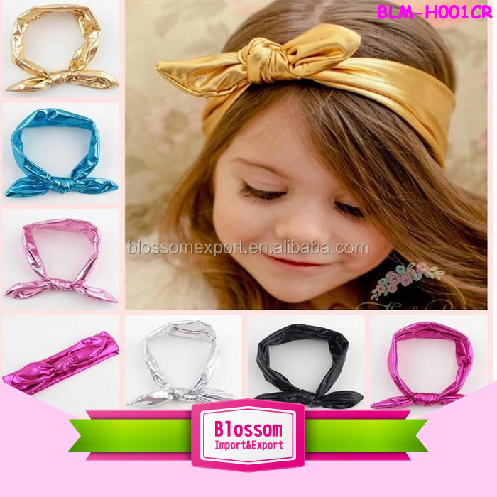 Mix design Rabbit Ear knot headband, Boutique cotton baby knot headband wholesale