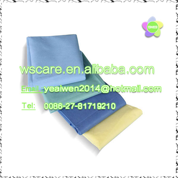 medical consumable disposable hospital bed sheets, non woven bed table sheets