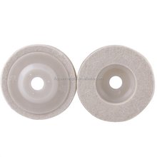 Felt polishing wheels of stainless steel, copper, aluminum and other metal and glass, furniture, ceramics, marble