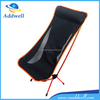 Ultra light weight folding camp fish kayak hiking beach chair lounger with headrest