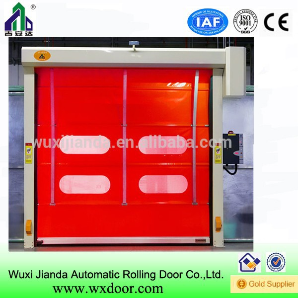 plastic screen stainless rolling door of high quality