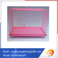 ISO certification Economical Color Pet Crate Pink Extra Large