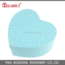 Hot sale eco-friendly heart shape party blue paper gift packaging box