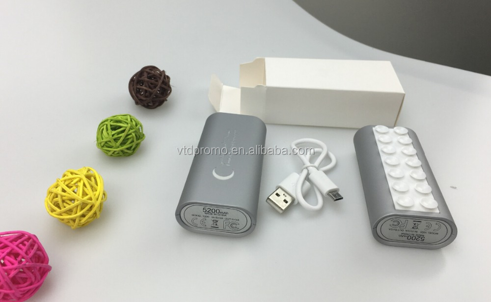 Power bank with blink logo