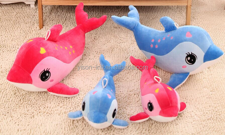 2015 Promotion Gift plush dolphin toy for kids ,wholesale sea animal toys plush dolphin for baby ,Birthday gift for baby