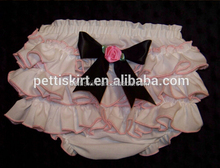 Adorable Baby Diaper,Lace Baby Bloomers Vintage Pink Wholesale Baby Ruffle Bloomers