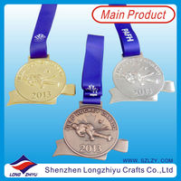 2013 canada hockey sport metal medal with ribbon souvenir running medal wholesale medal lanyard