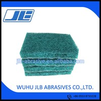 JLB new material ,thickness 13-15mm nylon abrasive scouring pad, green scouring pad