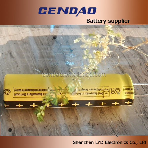 High max current 10C waterproof lithium battery 18650 1300mah 2.4V lithium titanate